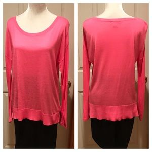 H&M neon pink lightweight sweater. Size Small